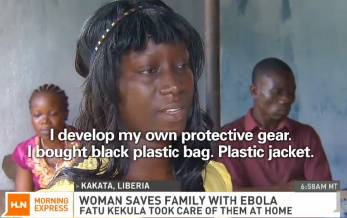 Fatu Kekula, student nurse, Kakata, Liberia saved her family from Ebola virus disease